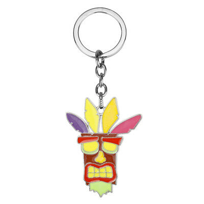 New Crash Bandicoot Aku Aku Enamel Novelty Keyring Keychain Collectable Gift Bag