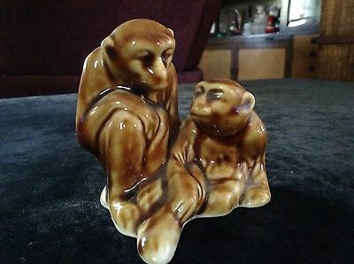 Vintage Ceramic Monkeys. Retro Mid Century Art Deco.