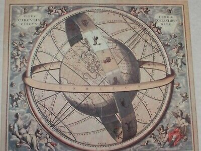 Armillary Sphere by Andreas Cellarius 1660 Reproduced from the Original