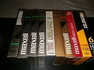 Lot of 10 Random Pre Recorded VHS Video Tapes Sold as Blanks lot 1