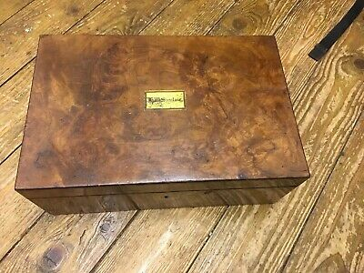 Lovely Vintage / Antique Wooden Writing Slope / Box - No Key