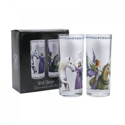 Anne Stokes boxed pair of Unicorn Glasses