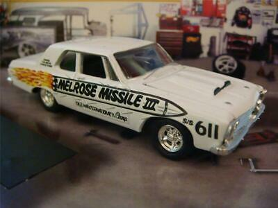1963 Plymouth Fury w/Max Wedge 426 V-8 Hemi Melrose Missile III 1/64 Scale LE Q