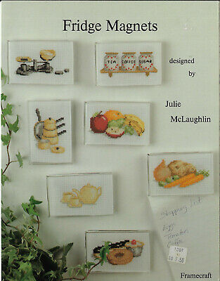 Fridge Magnets Framecraft cross stitch chart book Julie McLaughlin