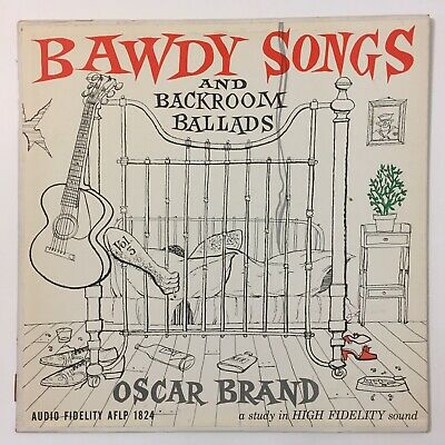 Oscar Brand Bawdy Songs And Backroom Ballads Vol 3 Vinyl LP Record AFLP 1824