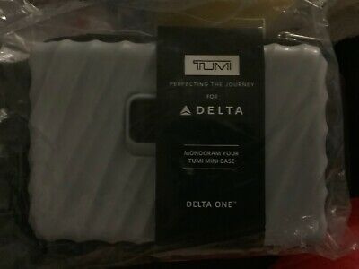 NEW Delta One Business First Class  Gray TUMI Toiletry Amenity Travel Kit Cisrom