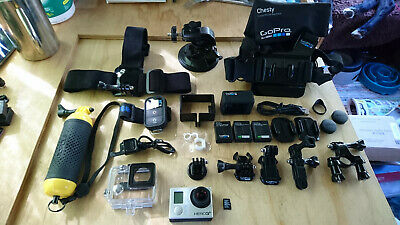 GoPro HERO3+ Black Edition Bundle, 3 Batteries, 32GB SD Card & many Accessories