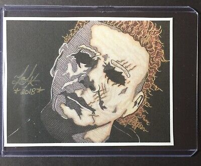 Jason Voorhees Vs Michael Myers Sketch Card STICKER Print Artist Tony Keaton