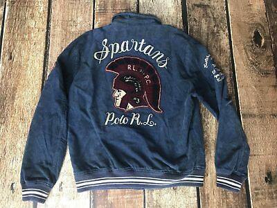 bef287180 Polo Ralph Lauren Varsity Embroidered Corduroy Jacket Spartans Mens Large