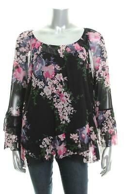 Inc Multi Colored Shear Women's Floral Blouse 1x Concepts Sz New International rtQdhxCs