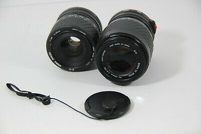 Sigma Macro 1:2.8 f=50mm & UC Zoom 70-210mm 1:4-5.6 Film Camera Lens for Canon