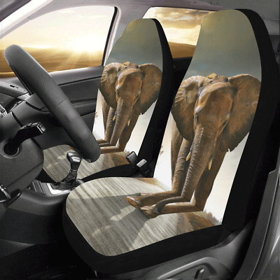 Front Car Seat Covers Elephant Auto Protector Cushion Universal Fit Most Cars