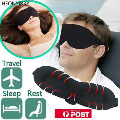 Travel Sleep Eye Mask soft 3D Memory Foam Padded Shade Cover Sleeping Blindfold