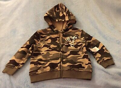 Boy's Peanut & Ollie Camoflauge Light Weight Hooded Jacket Size 24 Months - NWT