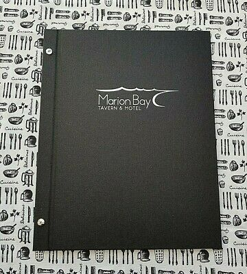 A4 BUCKRAM 2 Part Black Menu Covers Packs of 10,20,35 or 50 INCL 3 Pockets