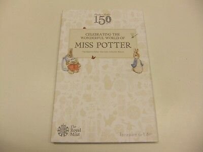BRAND NEW FROM ROYAL MINT 2016 BEATRIX POTTER 50p COIN ALBUM - FIRST SET