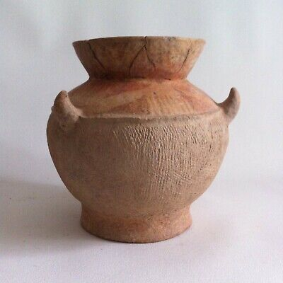 Bronze Age Thai Painted and Comb Textured Pot