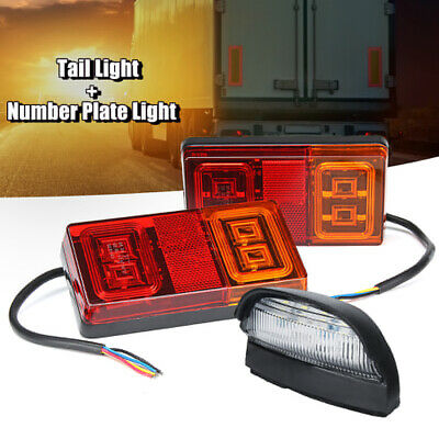 2X Submersible LED Light Number Plate Light Kit For Marine Trailer Boat AU