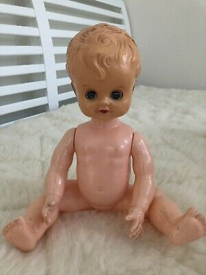 17 Inch Vintage celluloid Baby Doll Made In Hong Kong