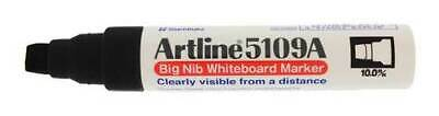 Artline EK5109A Big Nib Whiteboard Marker12x BLACK +  REFILL ESK50A 60ml BLACK