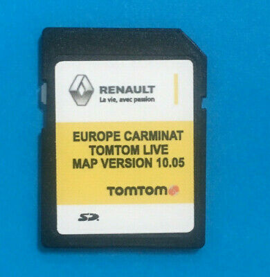 Renault Carminat Tomtom Live Sd Card Navigation Map 2018-2019 Europe V 10.05 Neu