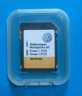 2019 V10 VW Discover Media Navi AS Map Karte Europa Europe SD Card 5NA919866