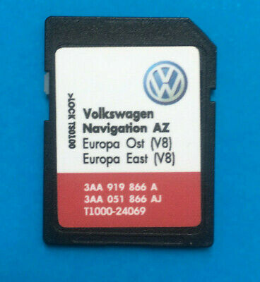VW RNS 315 V8 SD Card Navigation MAP EAST-OST EUROPE 2016