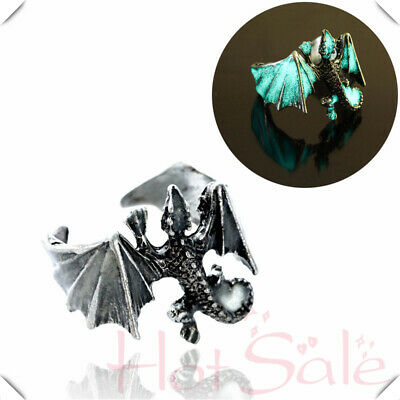 Biker Adjustable Dragon Glowing the Punk Dark in Lizard Finger Ring