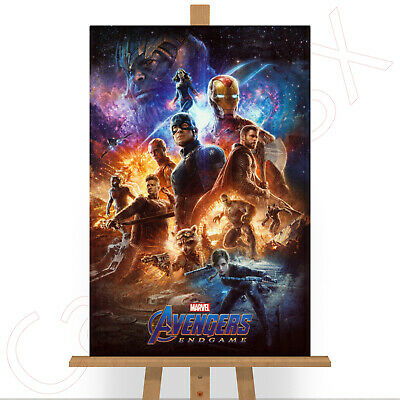 Avengers End Game Movie Film Endgame Canvas Print Picture Marvel DC Comics A3
