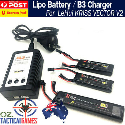Upgrade 11.1V Lipo Battery For LeHui KRISS VECTOR V2 Gel Ball Blaster Jinming ..
