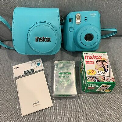 Fujifilm Instax Mini 8 Camera Aqua Plus Film & Case