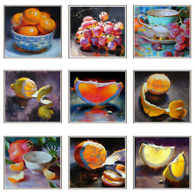 Modern Fruit Oil Painting Canvas Print Poster Bedroom Wall Picture Home Decor