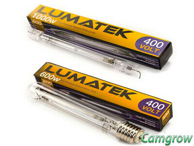 Lumatek - Bulbs 600W 400V & 1000 Double Ended 400V Hps Bulbs/Lamps Hydroponics