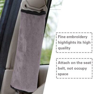 Children Seat Belt Pillow Shoulder Pad Protector Safety Seat Harness Cover Gray