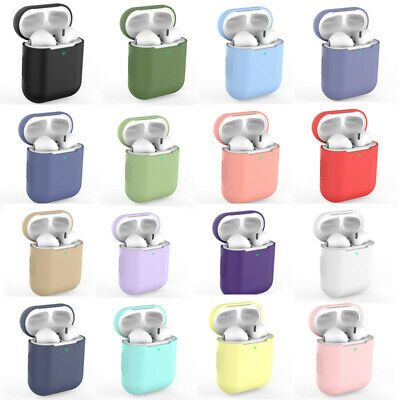 Earphone Protective Case For Airpods Cover Skin Cute Candy Simple Color Silicone