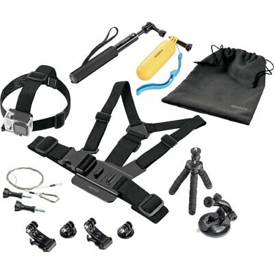 Insignia Essential 10 piece Accessory Kit for GoPro HERO 1/ 2/ 3/ 4/ 5 NS-DGPK10