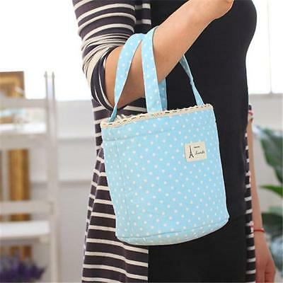Portable Round Insulated Thermal Cooler Lunch Box Tote Picnic Case Storage BagHY