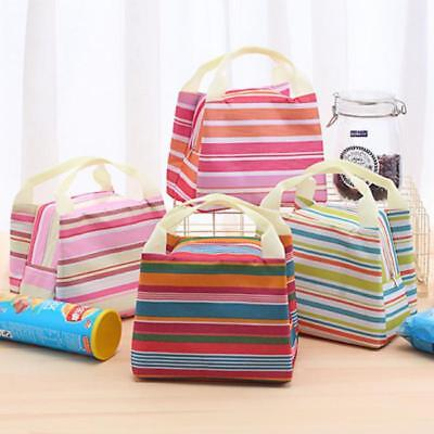 Portable Thermal Insulated Lunch Box Cooler Bag Bento Picnic Storage Pouch HY