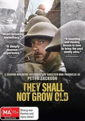 They Shall Not Grow Old (DVD, 2019) NEW