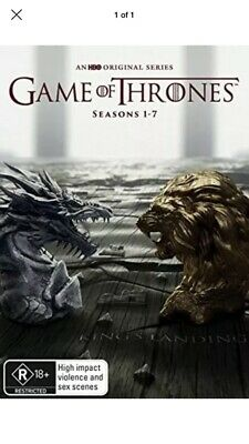 Game Of Thrones The Complete Seasons 1-7 DVD Box Set.