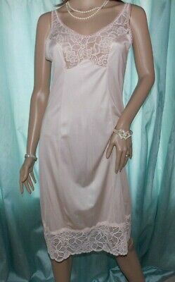 Full Slip Bali Blush Pink Soft Silky Anti-Cling Nylon Lacy French Neck  12-14 Uk