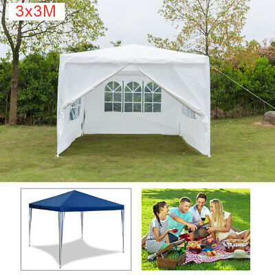 3x3m Gazebo Marquee Party Tent Waterproof Garden Patio Outdoor Canopy +Sidewalls