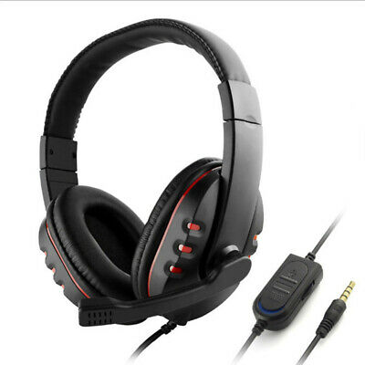 Gaming Headset Headphones Microphone Volume H Control For Sony PS4 PlayStation 4