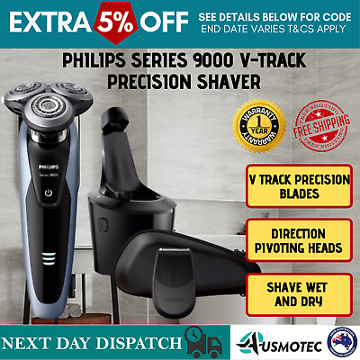 Philips Wet & Dry Men's Electric Shaver S9211/26 Rechargeable Shaver Series 9000