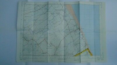 "RARE PRISTINE Ordnance Survey 2.5"" Map TA48 Mablethorpe 1953 Sutton o Sea Stubby"
