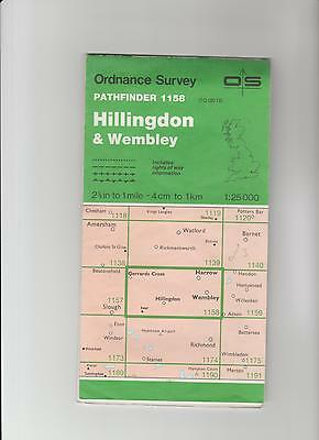 Ordnance Survey  Map TQ08/18 Hillingdon, Wembley 1991 Inc. Harrow, Iver, Kenton