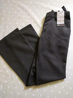 Next Girls Plus Fit Grey Bootcut School Trousers 13yrs 158cm Brand New With Tags