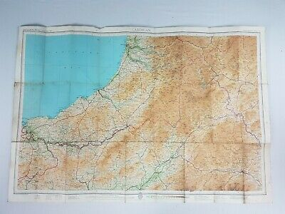 1951 Bartholomew's Half Inch Scale Cloth Map Cardigan Sheet 17.