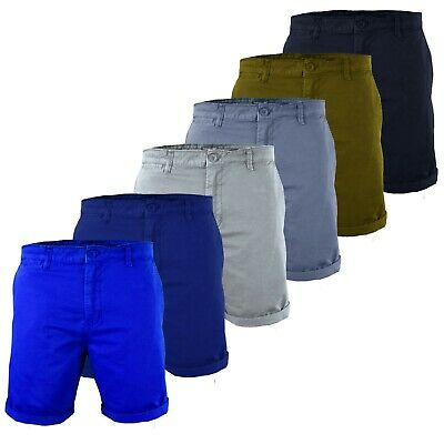 New Mens Summer Washed Chino Shorts Casual Twill Cotton Cargo Pant Work Holiday