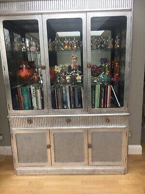Beautiful,large solid wood Display Cabinet with glass doors & internal lighting.